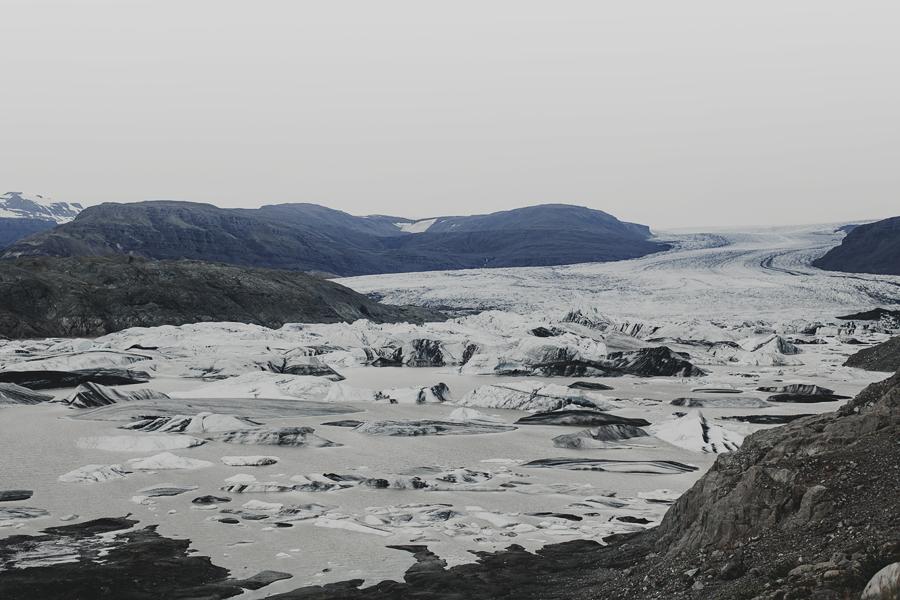 The Hoffellsjökull glacier