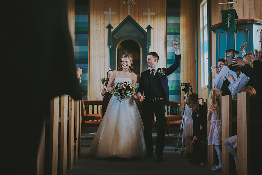 Girl and boy just married
