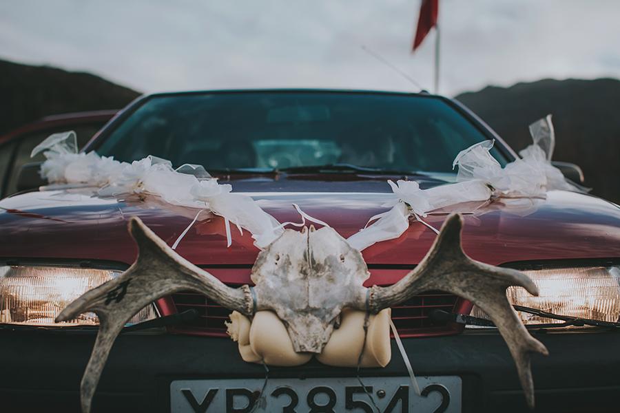 Limousine for the bridal couple