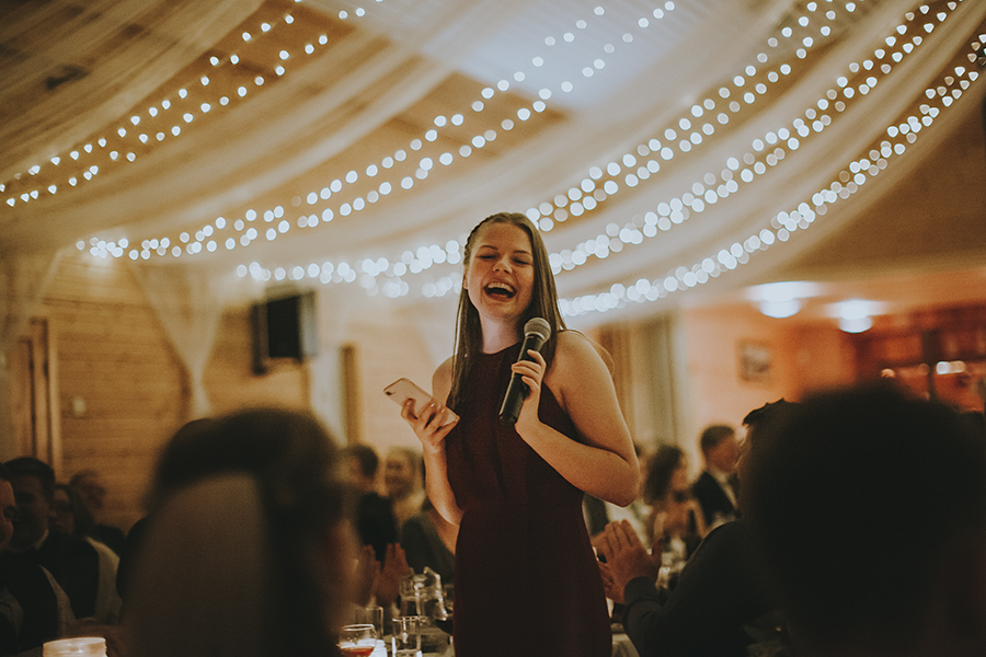 Girl laughing at the wedding