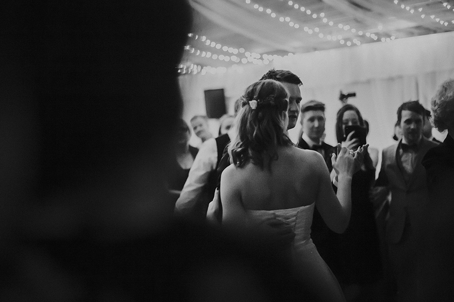 Bridal couple dancing in their wedding