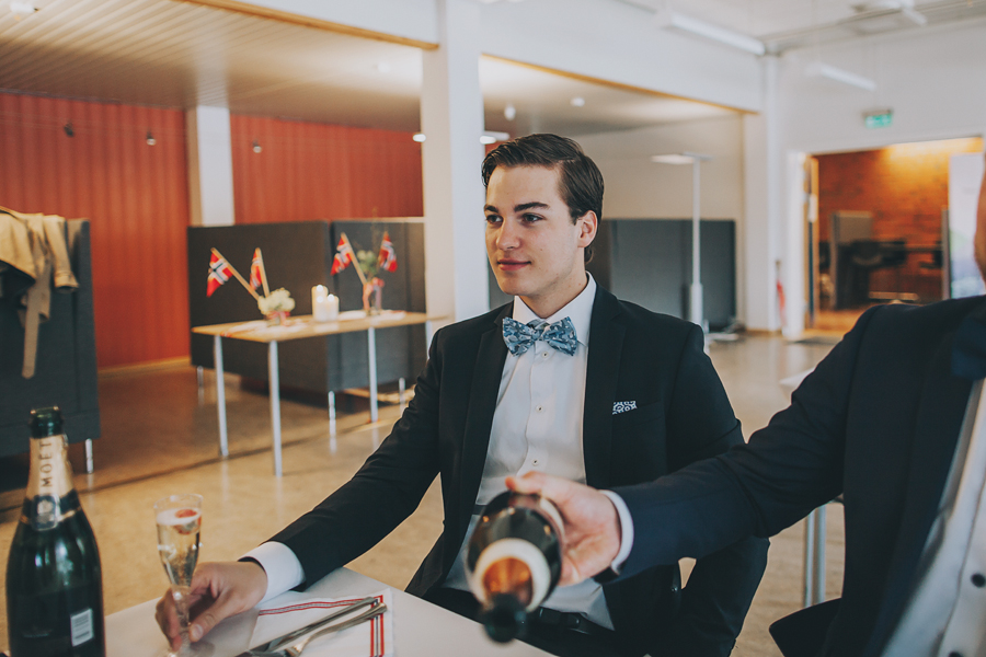 Boy wearing a blue bow tie