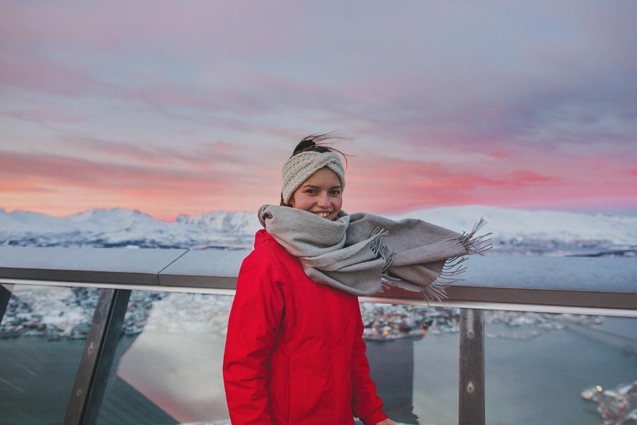 Girl at Fjellheisen in Tromsø