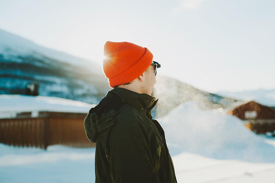 Guy with orange cap