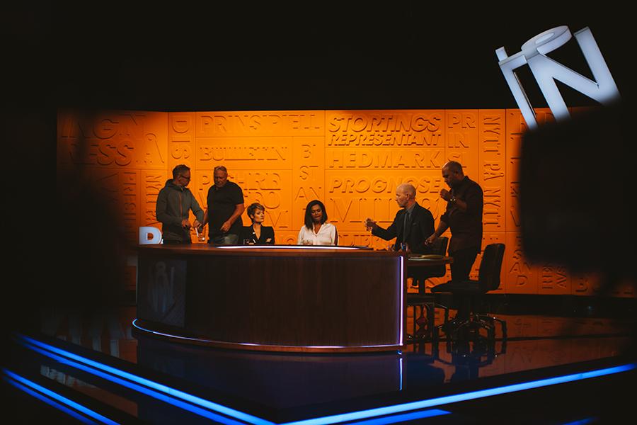 The TV-show Nytt på Nytt being filmed