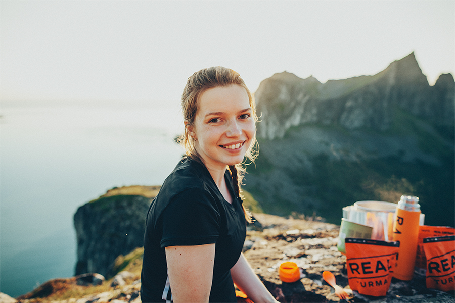 Girl smiling in sunlight