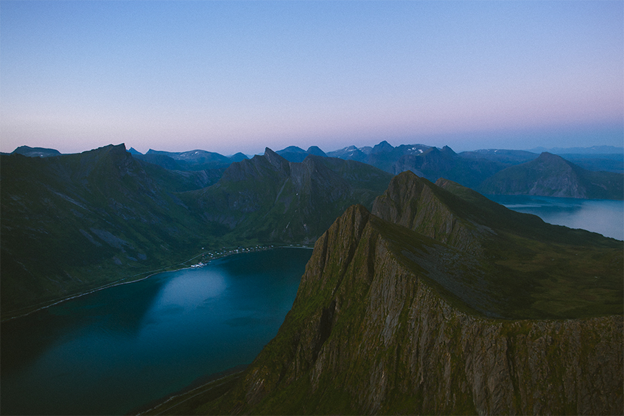 View of mountains in Senja
