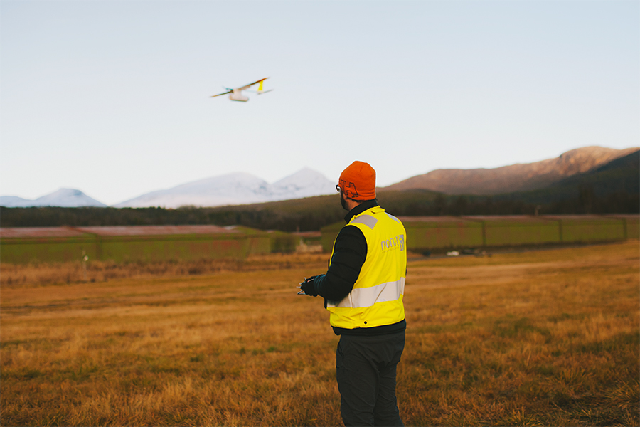 Norut drone pilot flyging