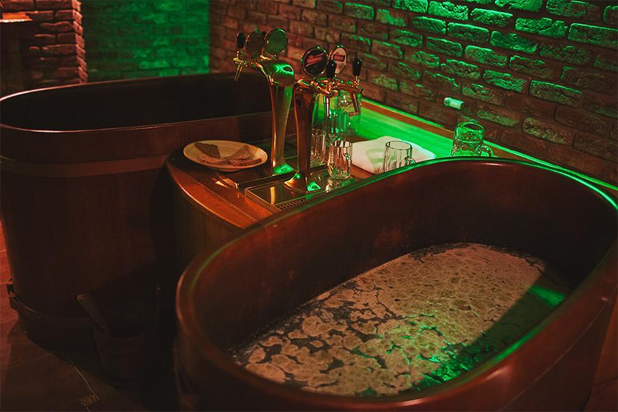 Beer bath in Prague