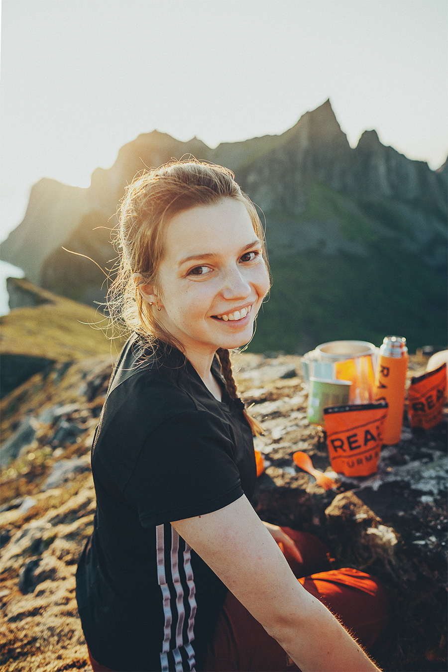 Girl smiling in Senja
