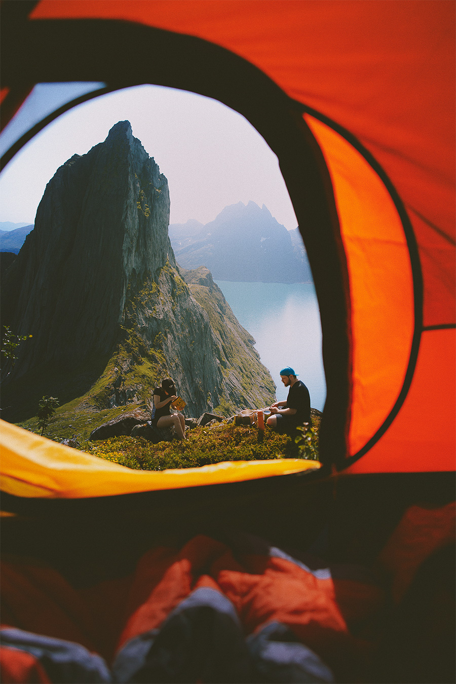 Tent window in Senja