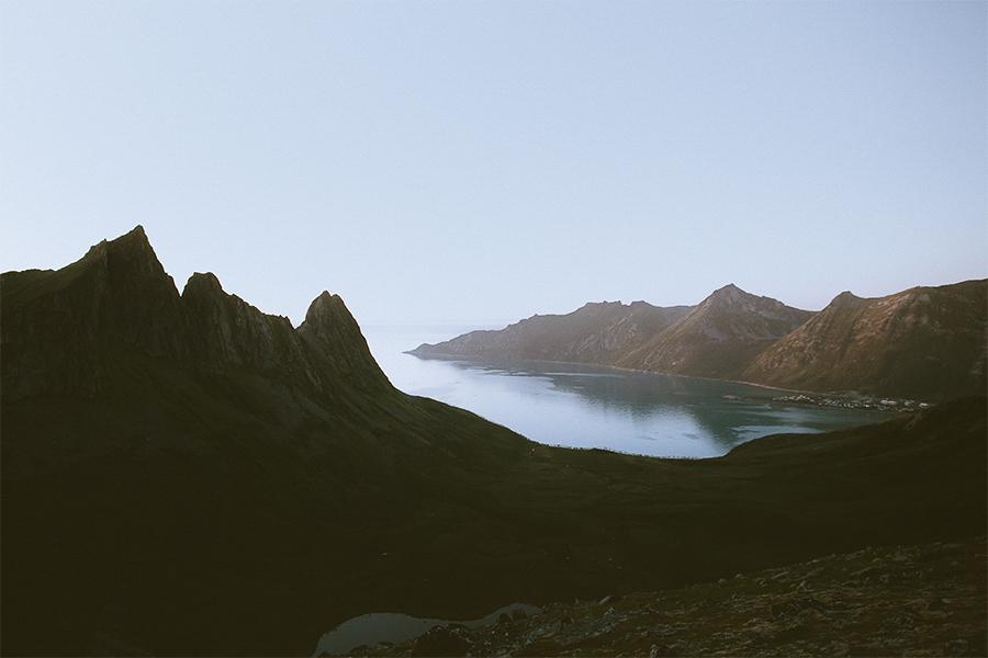 Pointy mountains of Senja