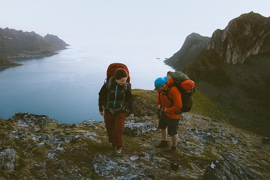 Two hikers in Senja