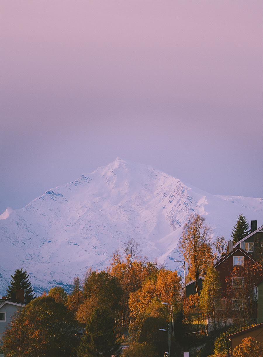 Backdrop mountains in Tromsø