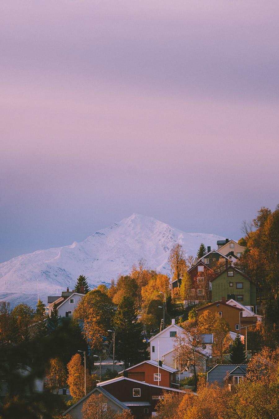 Colourful houses of Tromsø