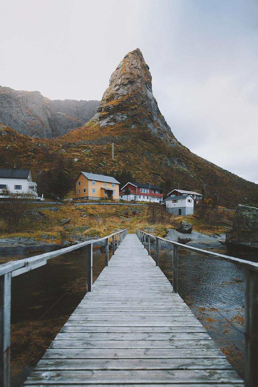 Bridge crossing in Lofoten