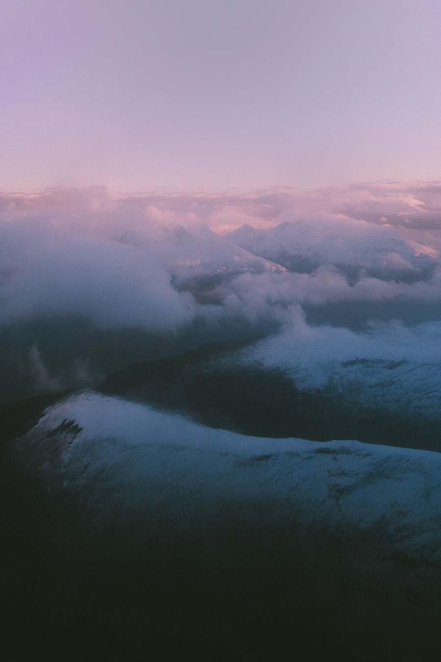 Mountain view from the air