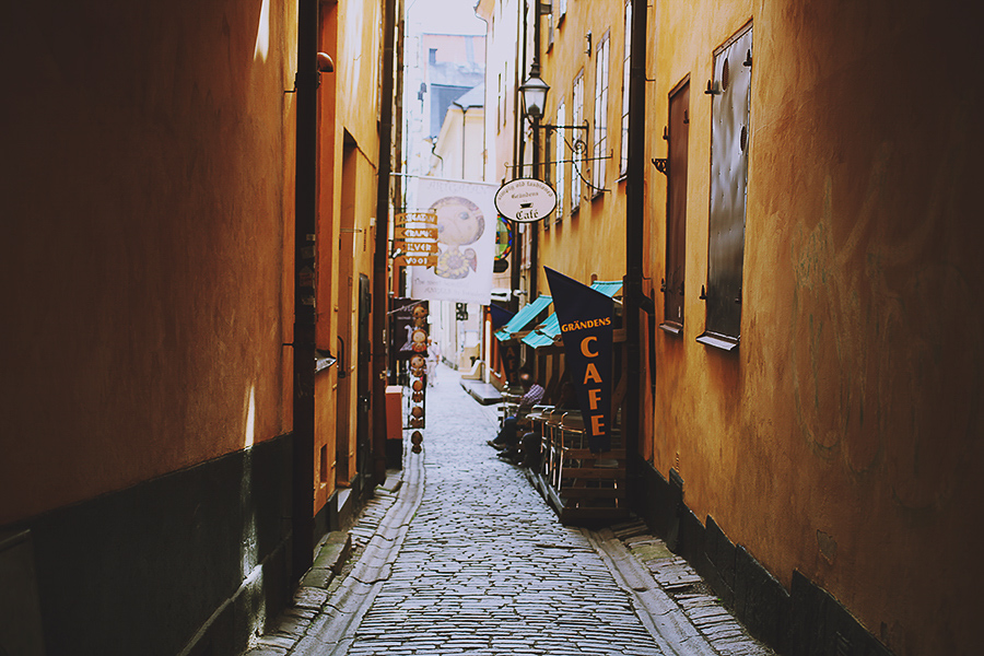 Cobble streets of Stockholm