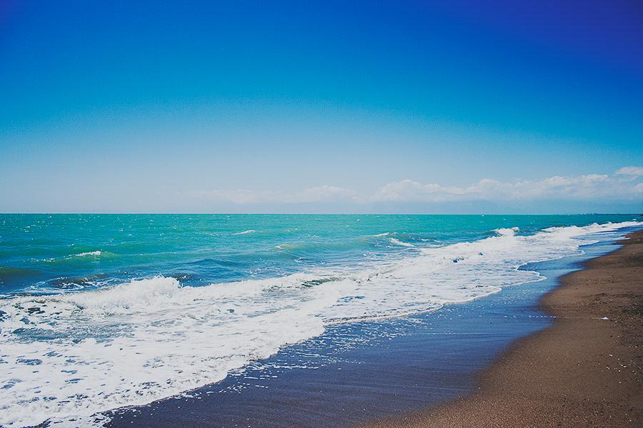 Sunn beach in Turkey