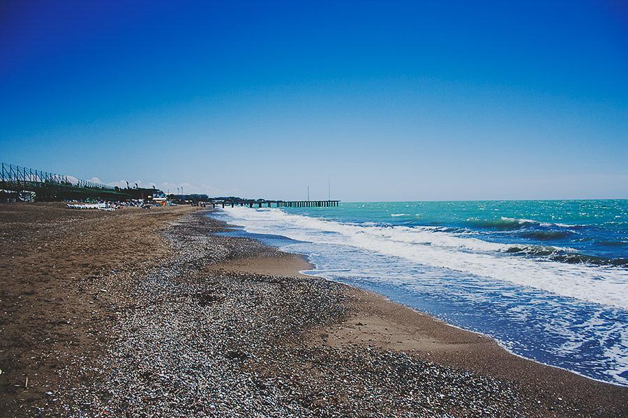 Sunny beach in Turkey