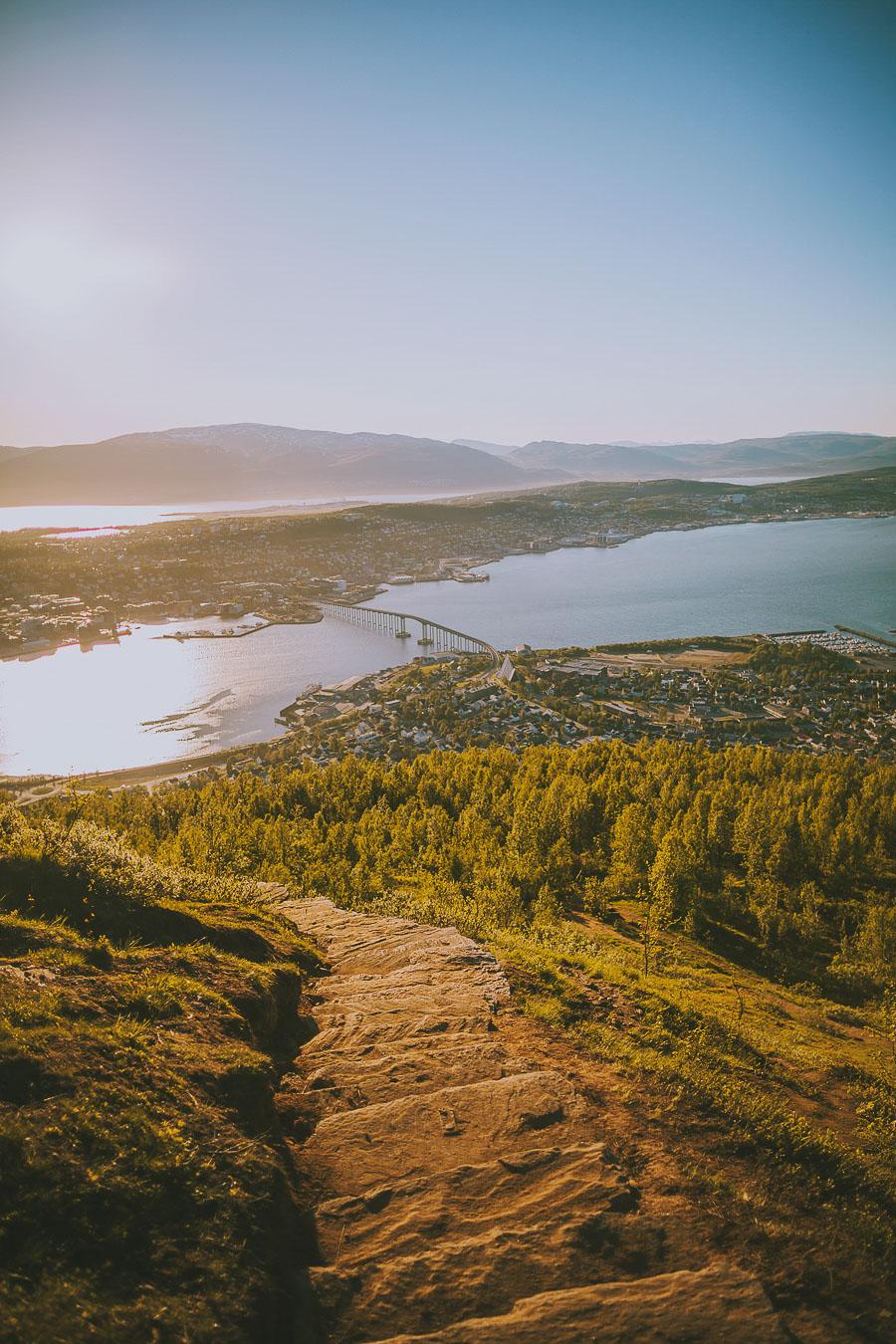 Stairs to Fjellheisen in Tromsø