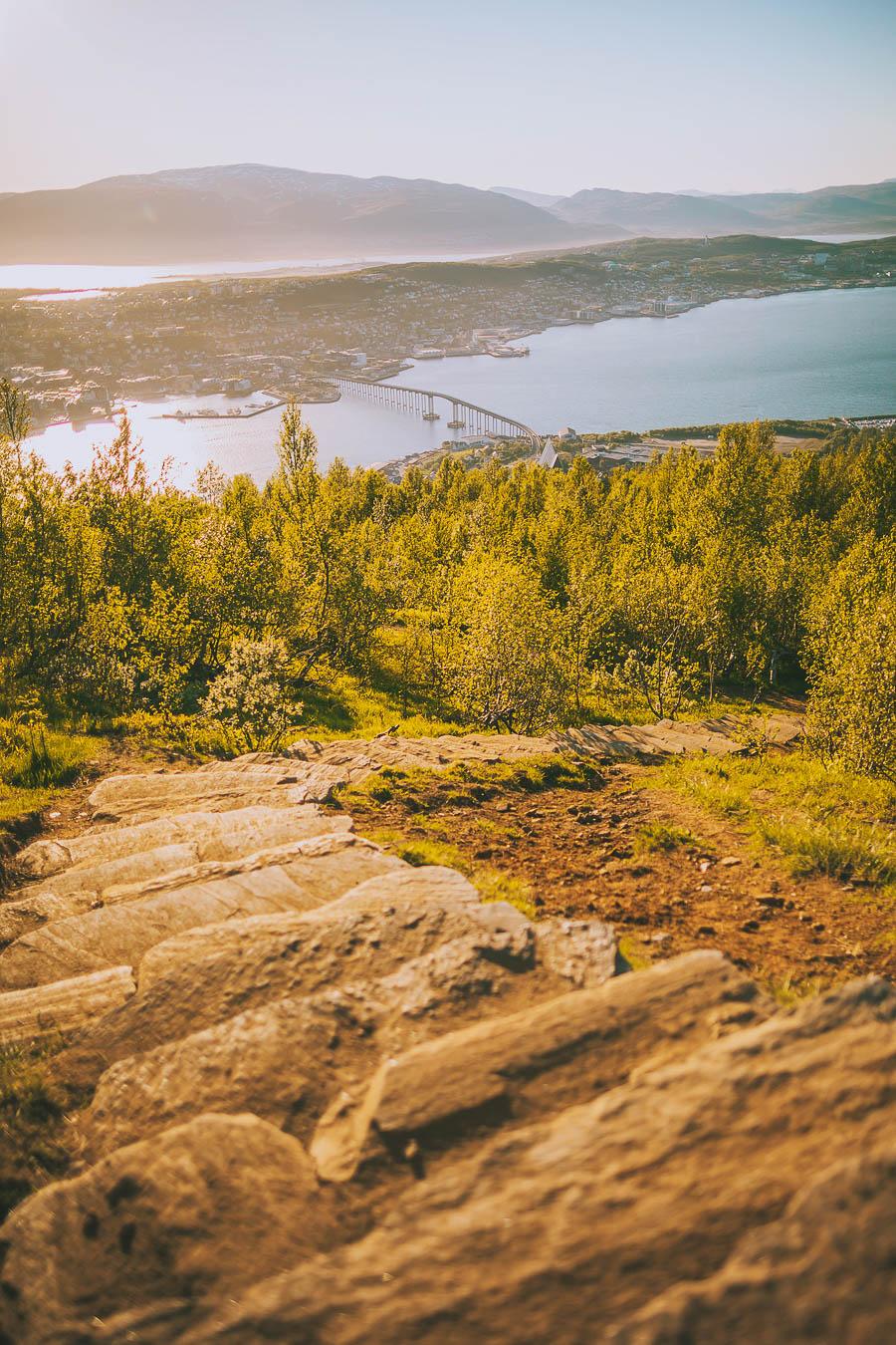 Stairway to Fjellheisen in Tromsø