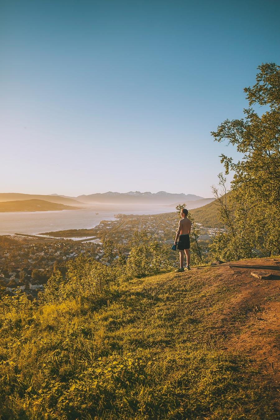 Boy overlooking Tromsø