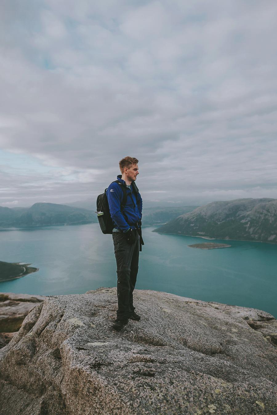 Boy enjoying the view of Tromsø