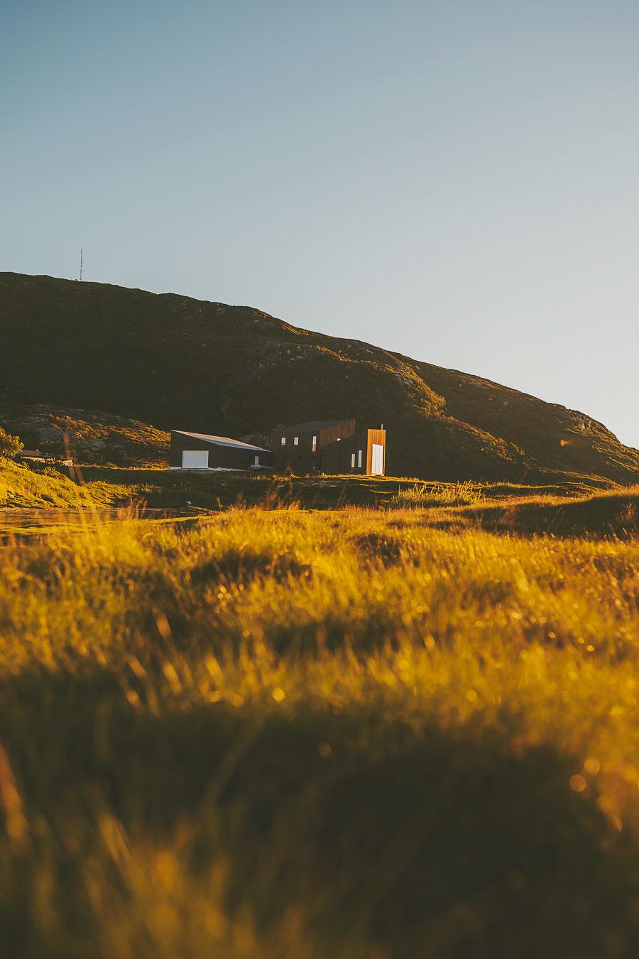 House bathing in sunlight in Troms