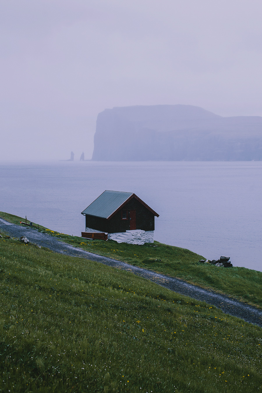 Small house by the sea in Faroe Islands