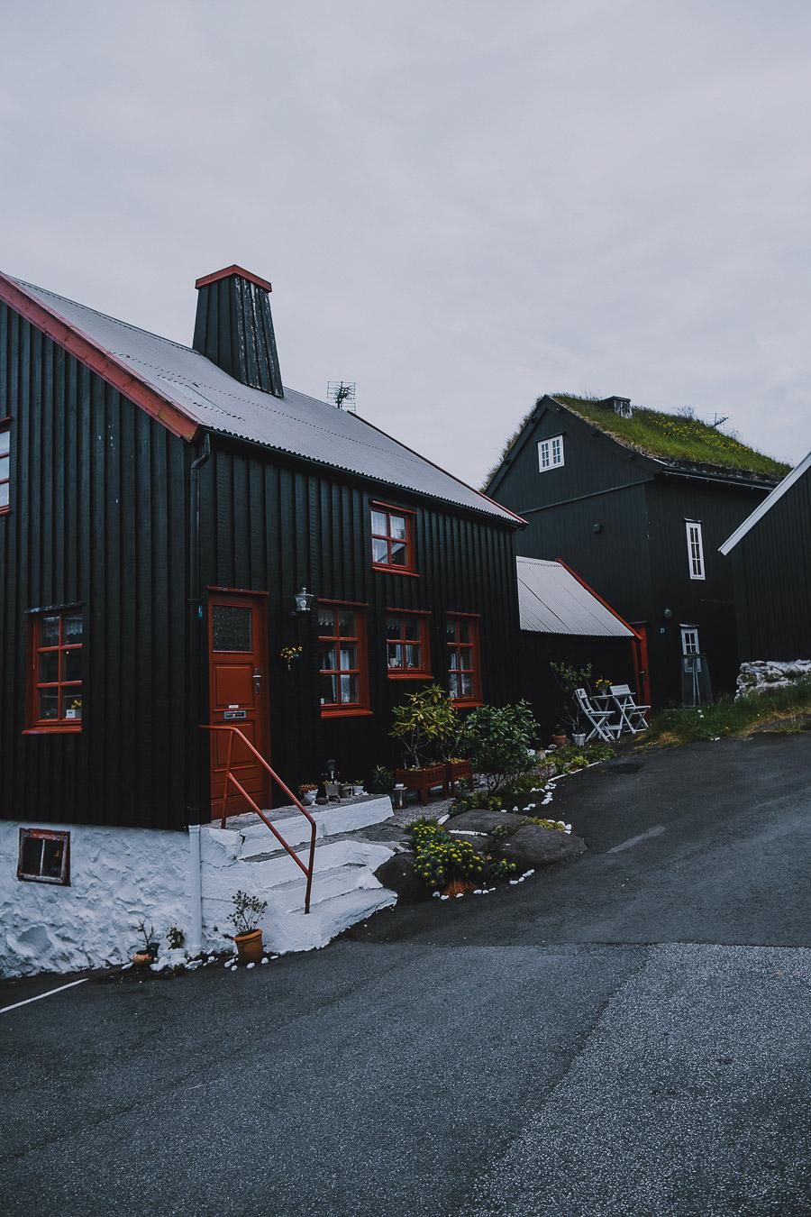 Houses of Torshavn in Faroe Islands