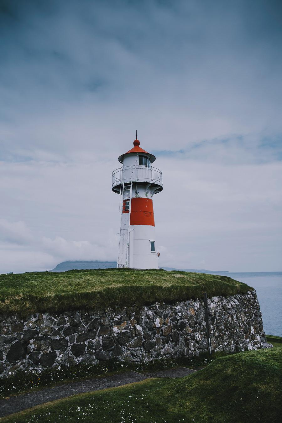 Light house of Faroe Islands in Torshavn