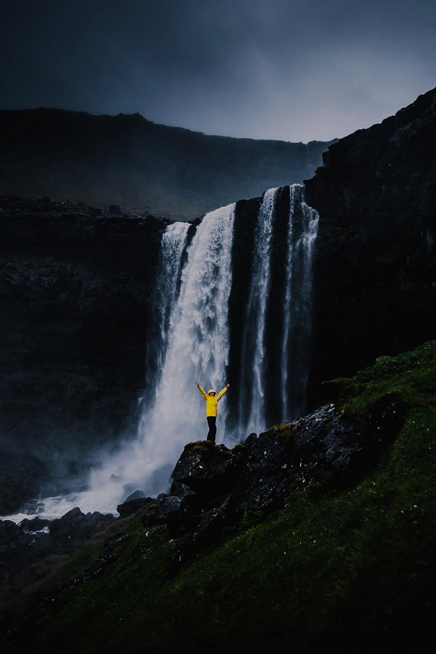 Fossa waterfall of Faroe Islands