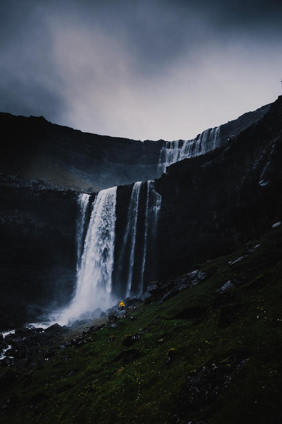 The tallest water fall in Faroe Islands