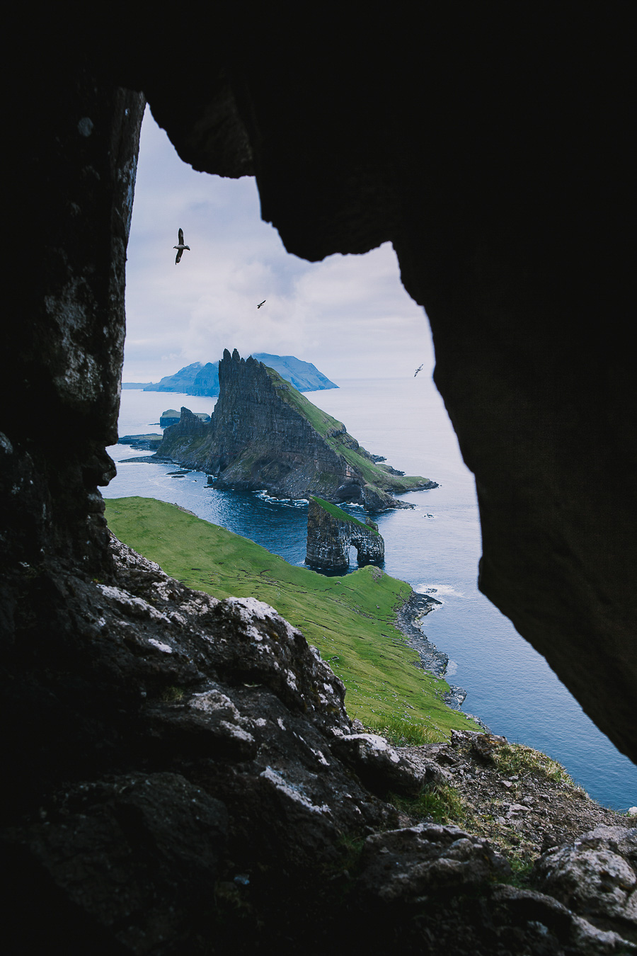 Drangarnir in Faroe Islands caved in
