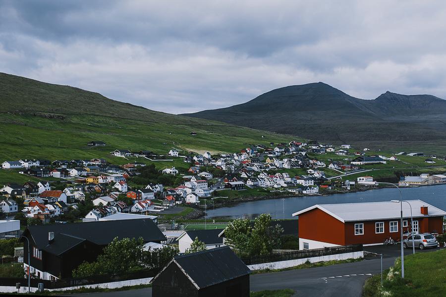 Small city of Faroe Islands