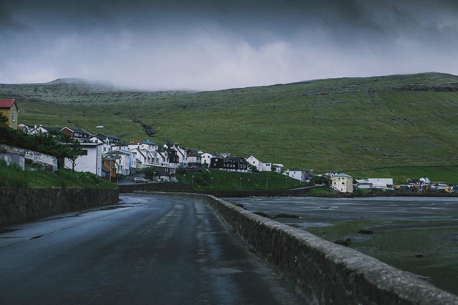 Road in Faroe Islands