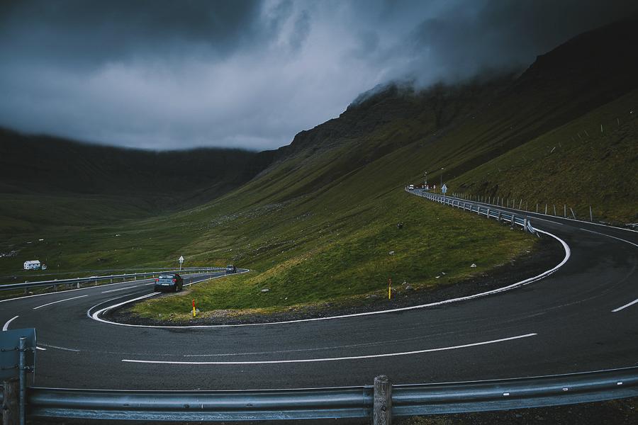 Windy roads of Faroe Islands