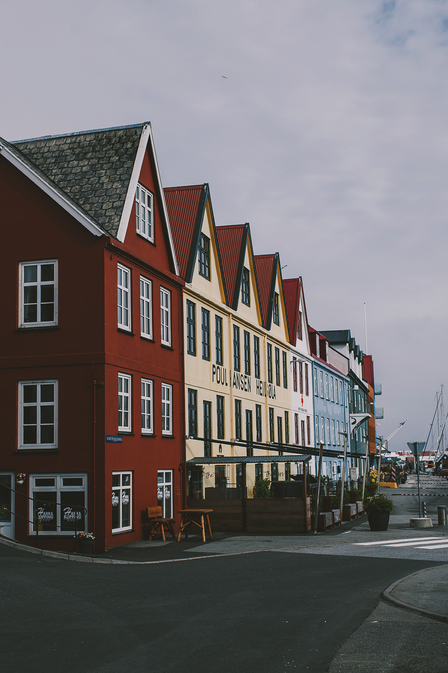 Colourful houses in Torshavn in Faroe Islands