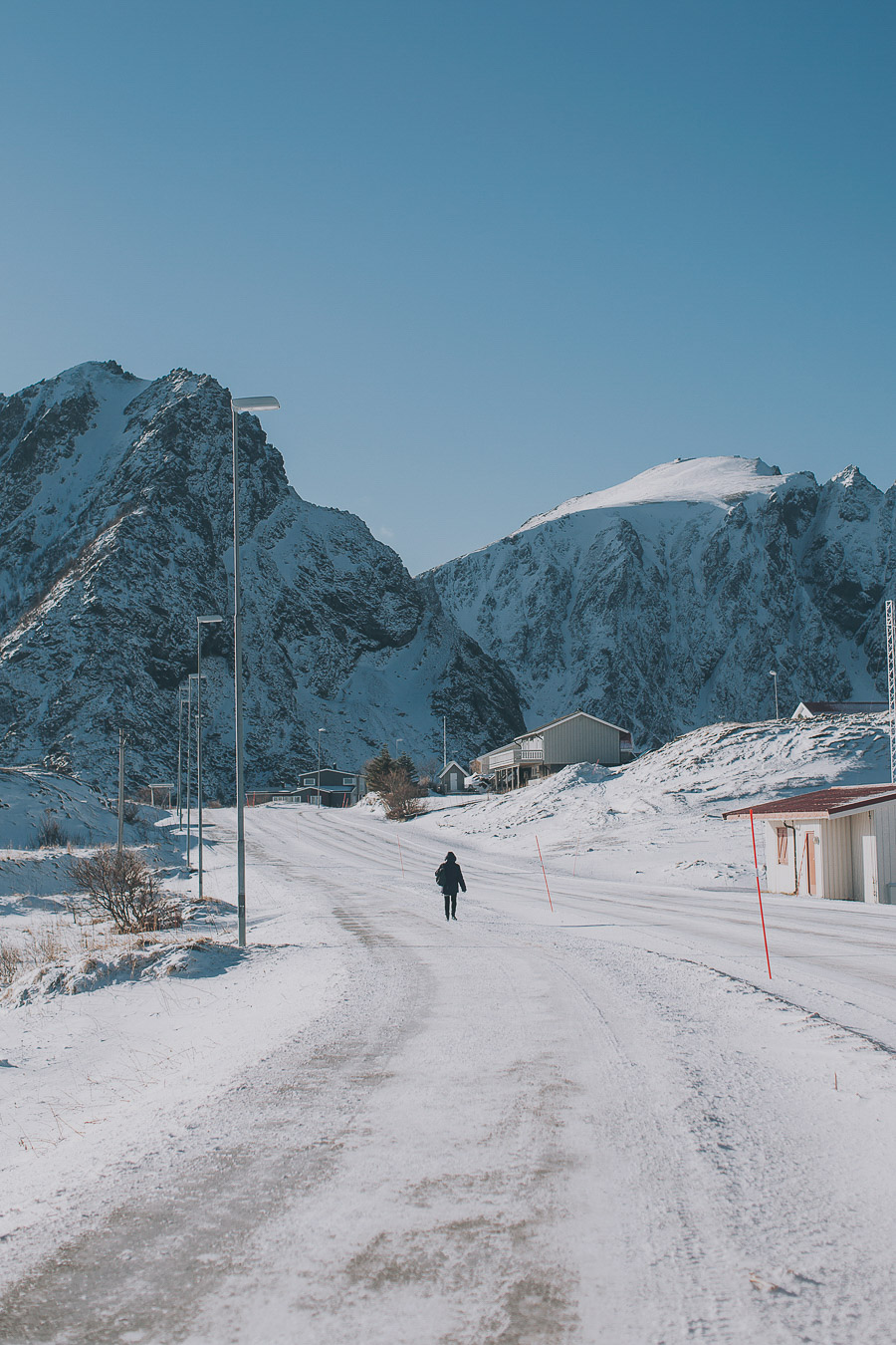 A person taking a stroll in Andenes