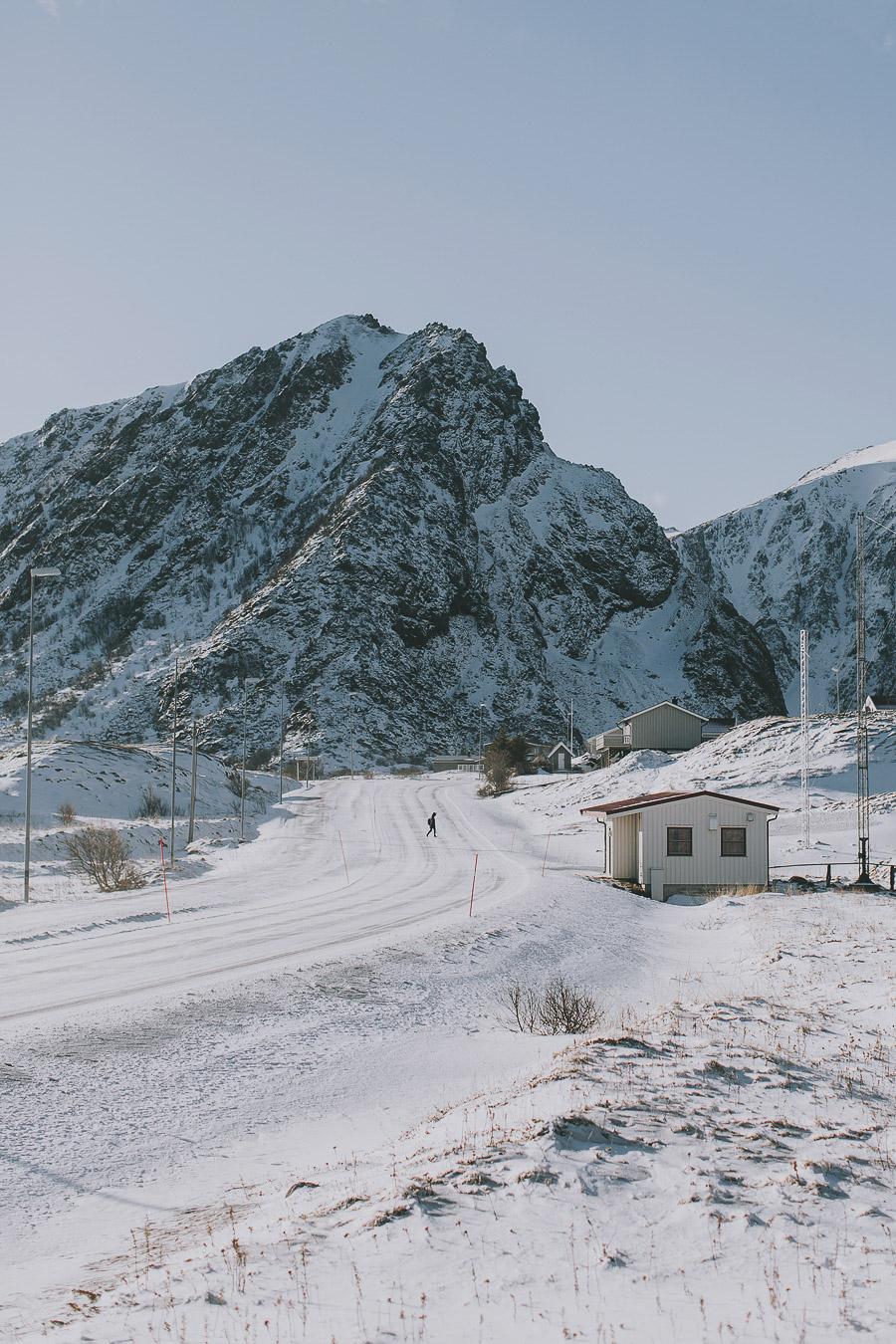 Human strolling around on Andøya