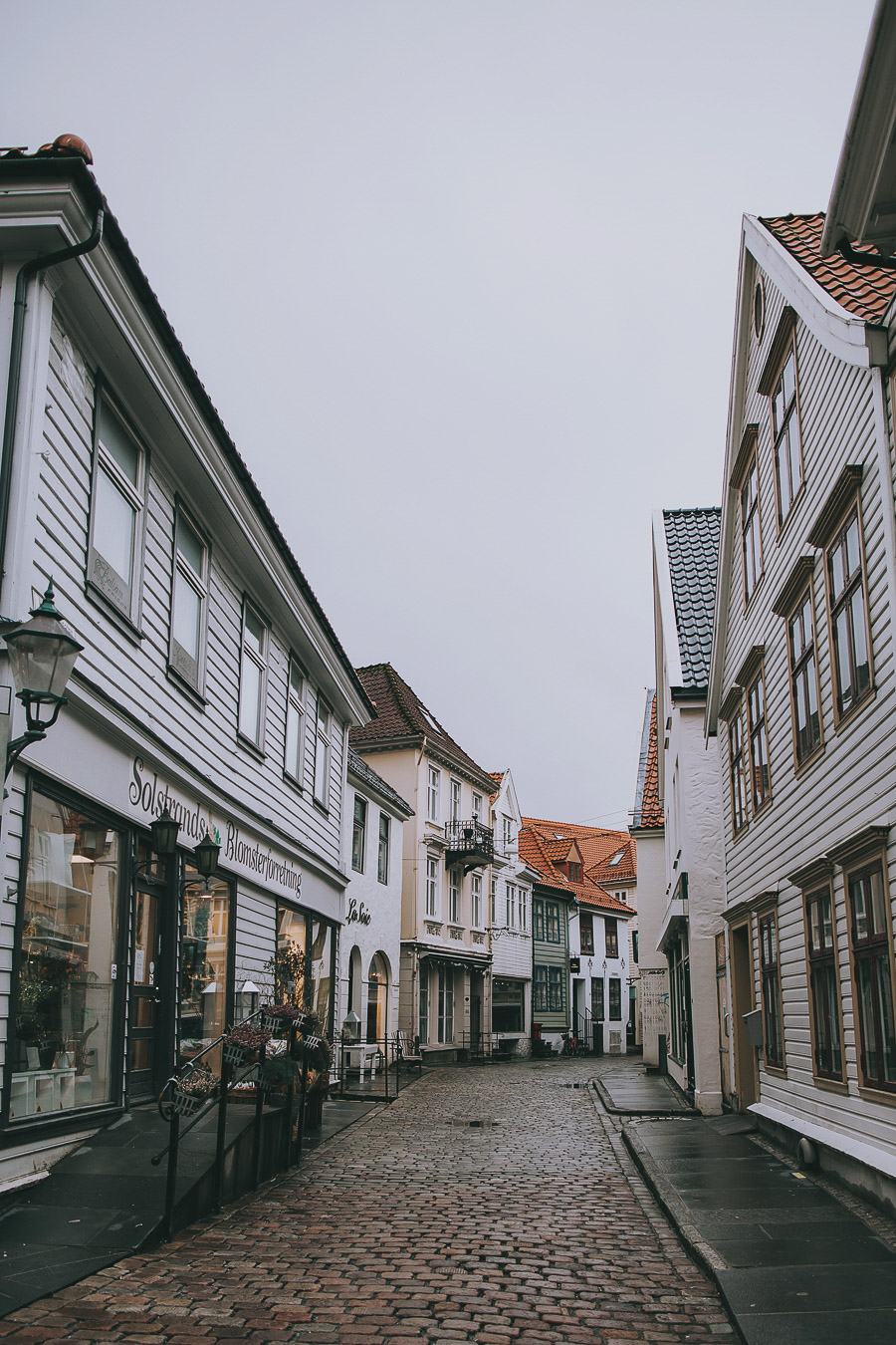 Cobbled streets of Bergen