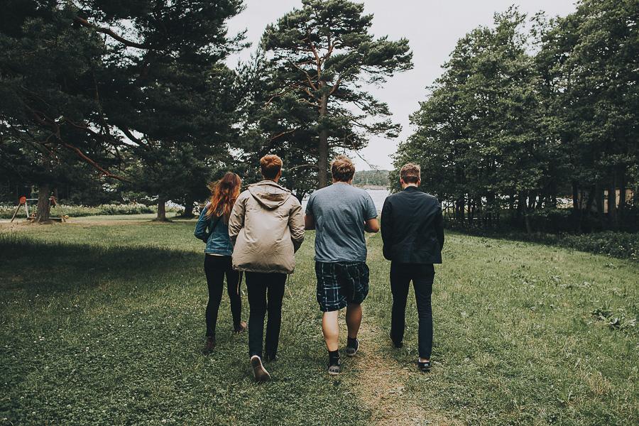 Friends taking a walk