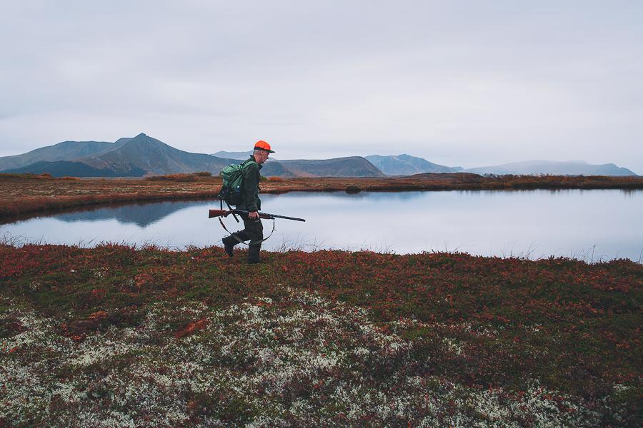 Man hunting at Skogvoll