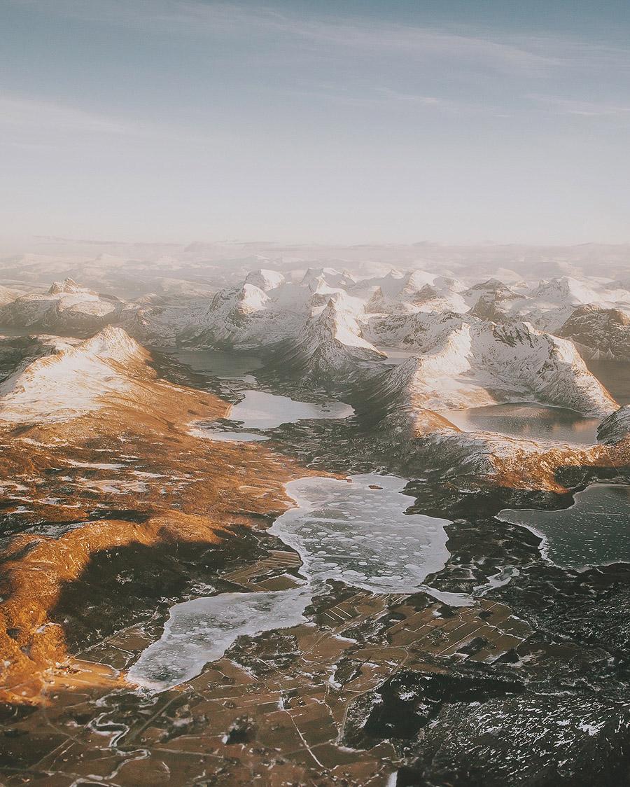 Aerial of Northern Norway