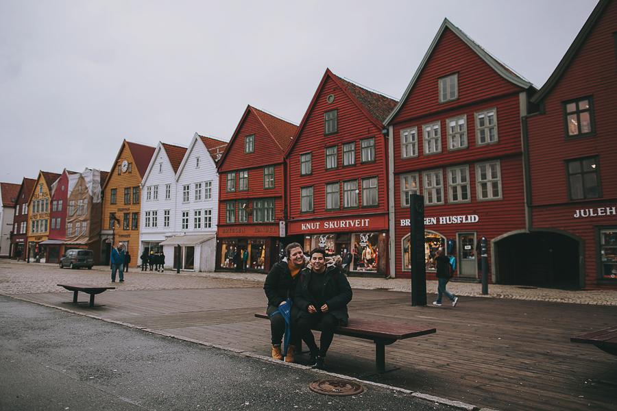 Friends at Bryggen in Bergen