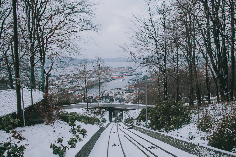 Cable car tracks in Bergen