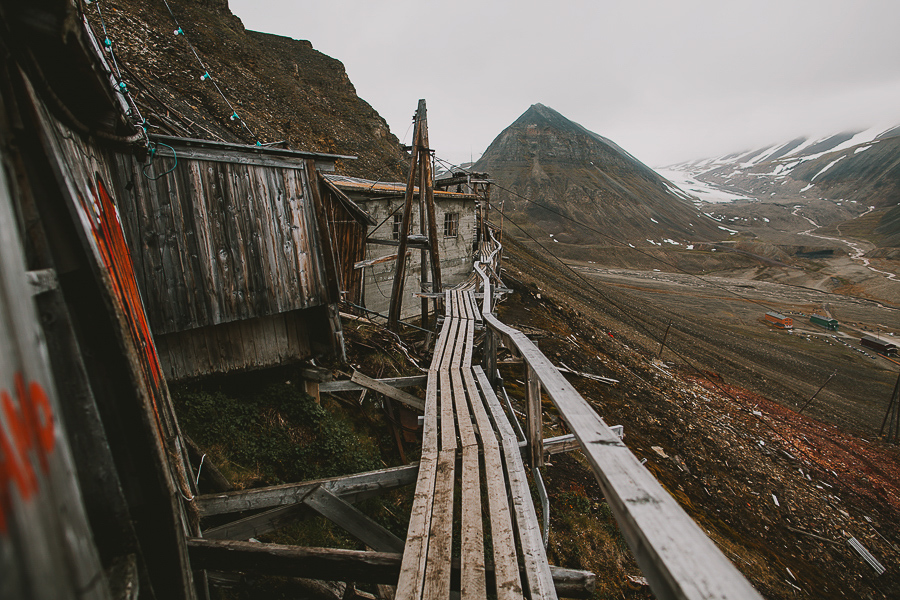 Closed down mine in Svalbard