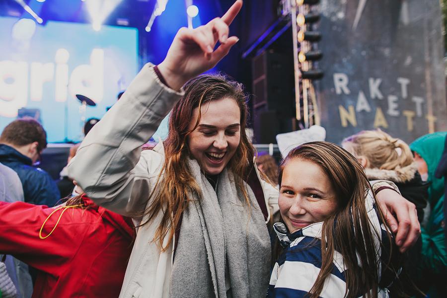 Girls having fun at a concert