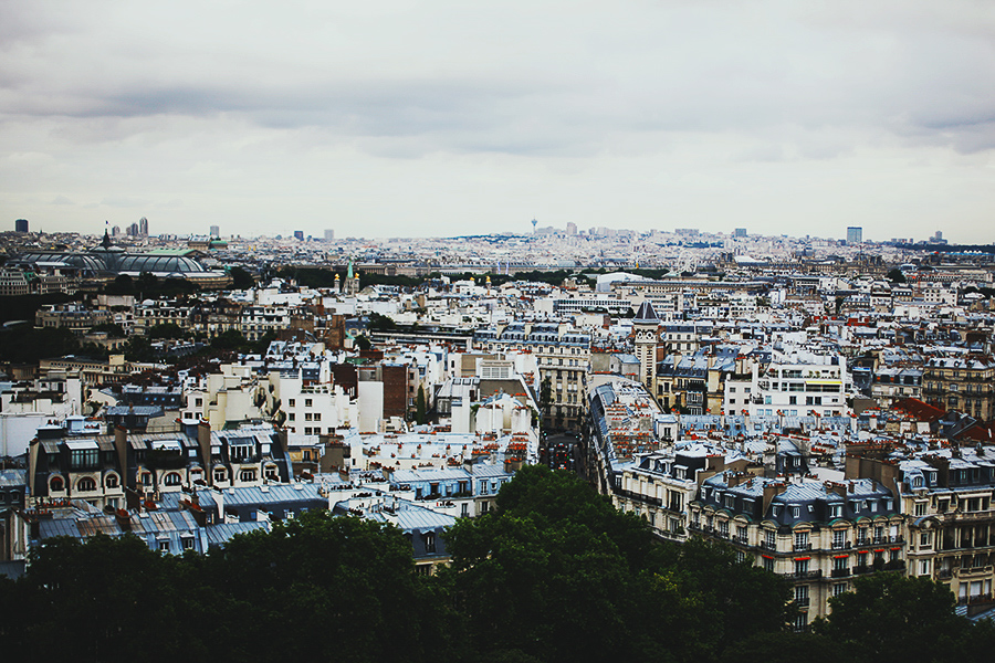 View of beautiful Paris